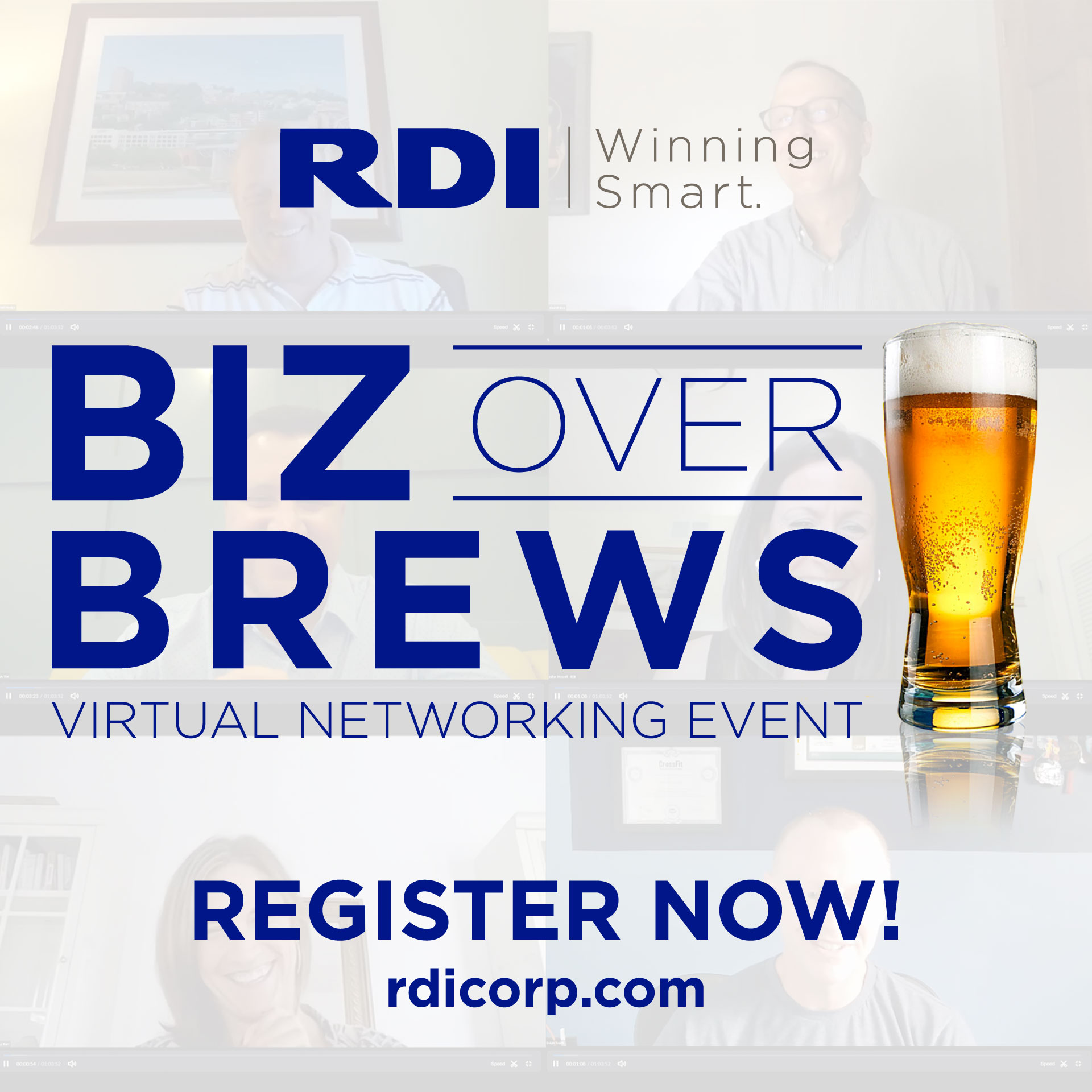 RDI Biz Over Brews Virtual Event - Winning Smart with Remote Teams