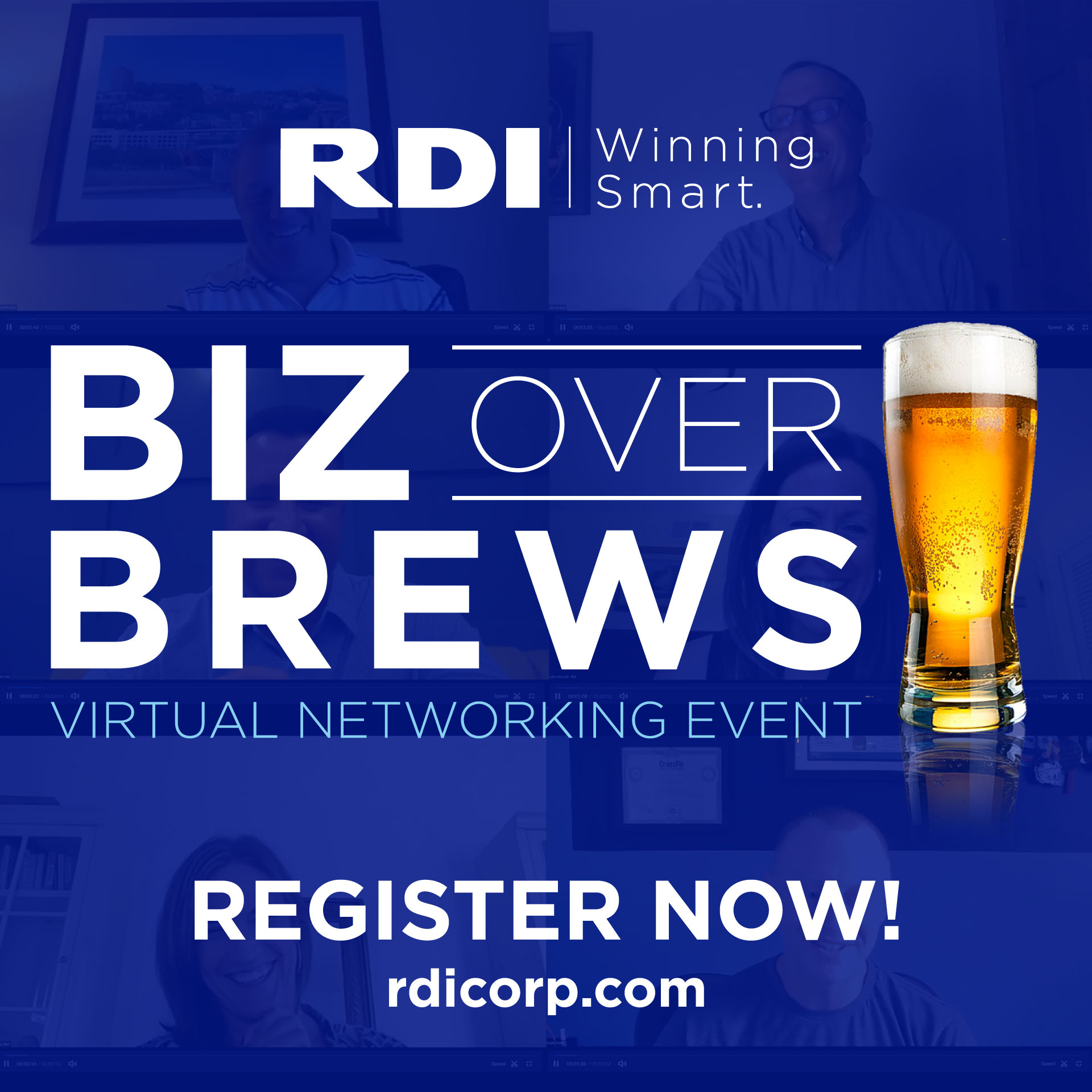 RDI Biz Over Brews Virtual Event - Winning Smart with Telehealth